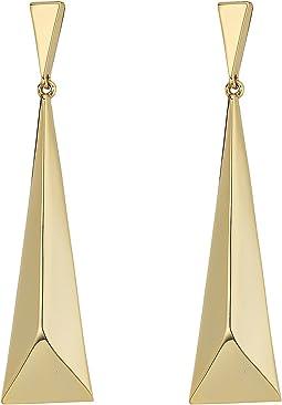 LAUREN Ralph Lauren - Minimal Metal Geometric Drop Earrings