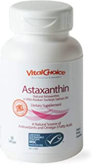 Vital Choice Astaxanthin in Wild Salmon Oil, 90 Count