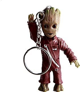 Wingteng Cute Baby Groot Keychain Groot Figures Movie Guardians of The Galaxy 2 Keychain Pendant Model Kids Toy Best Gifts