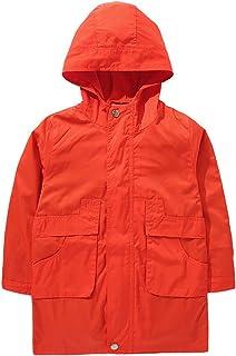 TAOHUA ボーイズコート トレンチコート 子供 春コート 薄手 無地 ジャケット 春 ファッション ハーフ丈