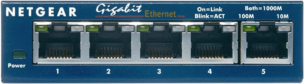 ベテラン愛火炎NETGEAR GS105 5ポート ギガビットスイッチングハブ (省電力製品) GS105-300JPS (本体ライフタイム保証)
