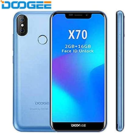 DOOGEE X70 – Smartphone 5.5 Inch Screen, Android 4000mAh Battery, Dual Rear Cameras, Face Detection + Fingerprint 8.0 SIM Free Mobile Phone 2GB/16GB Blue