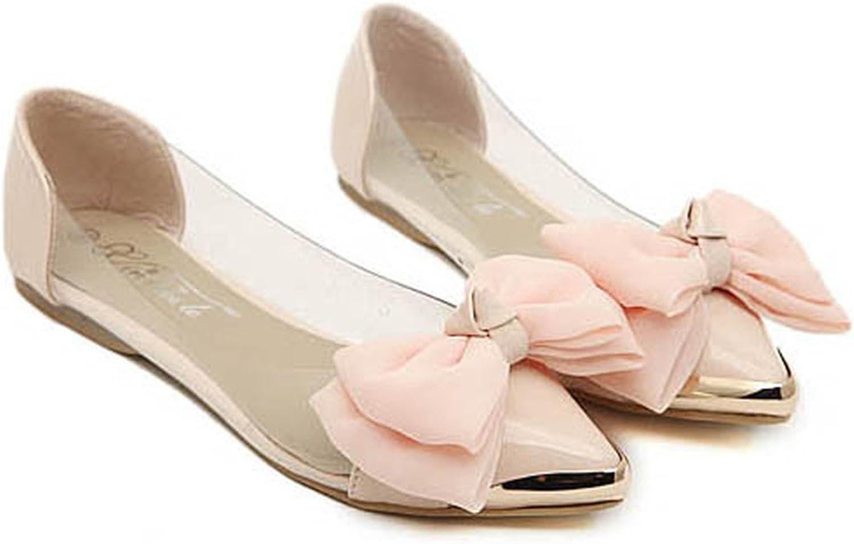 Henraly Women Ballet Flats Fashion Metal Toe Women Flat shoes Ballerinas Ladies Casual Flats Size 35-40 Pink
