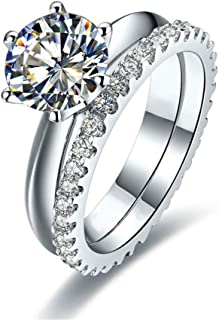 Best synthetic diamond wedding sets Reviews