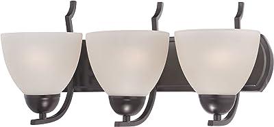 Woodbridge Lighting 13053MEB-M21MIR North Bay 3-Light Bath Bar Metallic Bronze