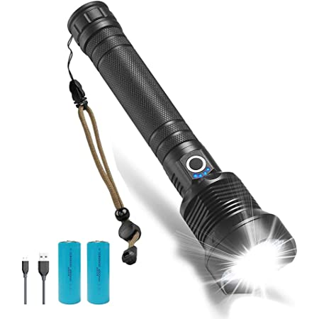 Super Bright 900000LM Torch COB LED Flashlight USB Rechargeable Tactical light