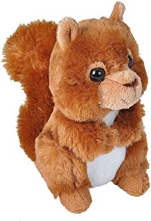 Wild Republic Red Squirrel Plush, Stuffed Animal, Plush Toy, Gifts for Kids, Hug'ems, 7 inches