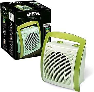 Imetec Eco Silent FH5-100 - Calefactor con Tecnologia Eco Ceramica para un Bajo Consumo, Compacto y Silencioso, Asa Ergonómicaglia Ergonomica, Función Antihielo Termostato Ambiente, 2000 W