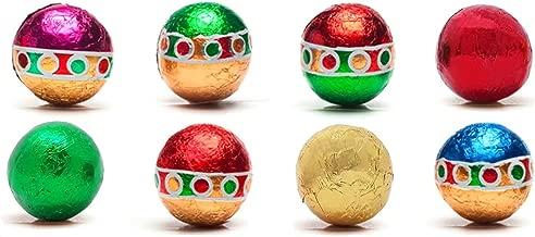 Madelaine Christmas Ornament Premium Milk Chocolate Balls, (1/2 LB) Wrapped In Italian Foils Reminiscent Of Miniature Ornaments (Half Pound)
