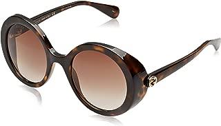 GG0367S 002 Dark Havana GG0367S Round Sunglasses Lens Category 2 Size 53m