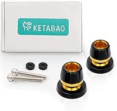 KETABAO Gold M6 Rear Swingarm Stand Spools Protectors For Aprilia Tuono V4R RSV4 R 09-17 Caponord 1200 13-17 Shiver 750