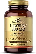 Solgar L-Lysine 500 mg, 250 Vegetable Capsules - Enhanced Absorption & Assimilation - Promotes Integrity of Skin & Lips - ...