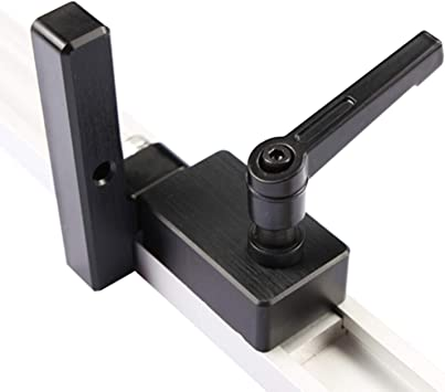 Left Miter Track Stop Aluminum Alloy T-Track Woodworking Chute Limiter for T-Slot Woodwork DIY Manual Tools