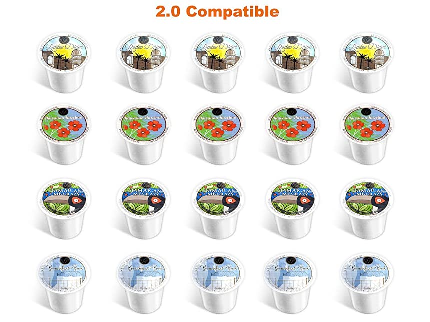 20-count NEW Wolfgang Puck Coffee Single Serve Cups for Keurig K Cup Brewer Variety Pack Sampler