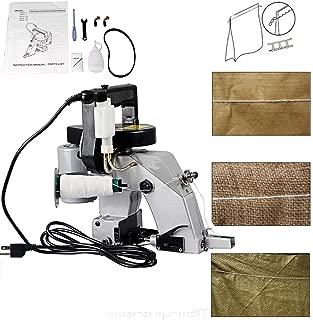 ECO LLC Portable 110V Electric Bag Closer Machine Bag Stitching Closing Seal Sewing Machine 90W Seaming Machine Ideal for Woven Bag/Snakeskin Bag/Sack