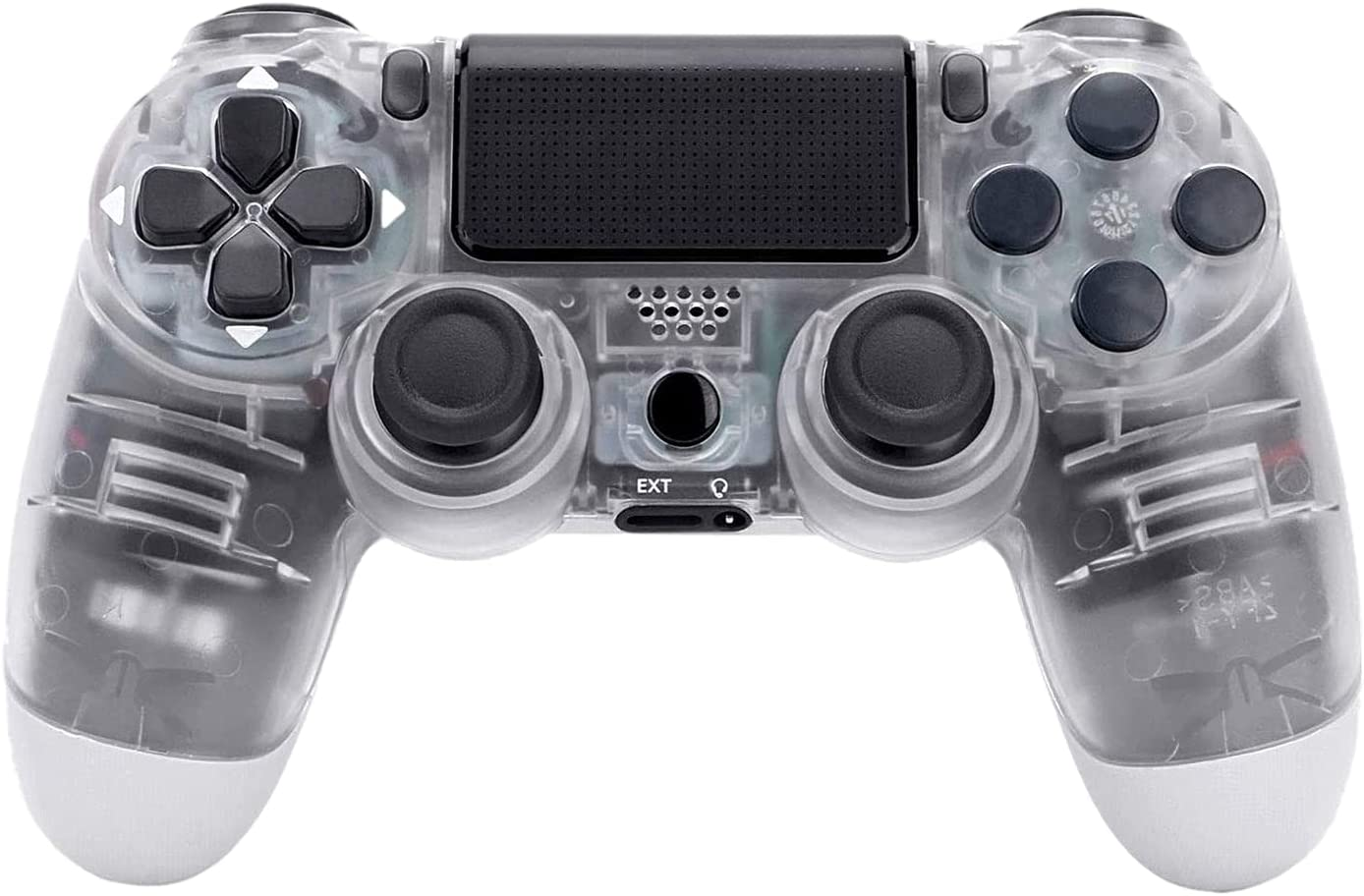 Wireless PS4 Controller, Crystal, with Led Touch Pad and Dual Vibration, Non-Slip & Anti-Sweat, Ergonomic Design, High-Sensitive Joystick, Gamepad for PS4/PS4 Pro/PC and Laptop