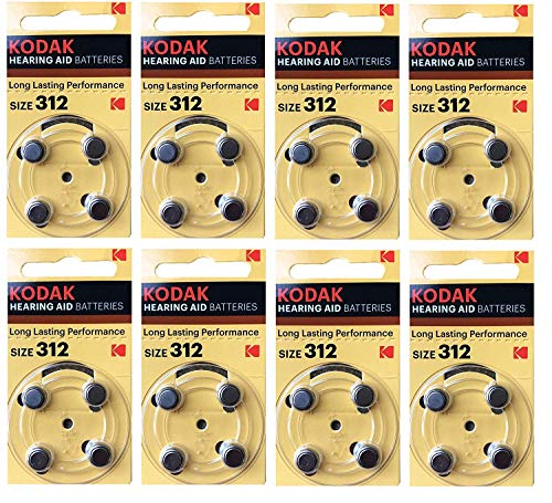 Kodak 32 Pack Aide Auditive Batterie Taille 312 (PR41, K312ZA) 1.45V Exp 11/2022