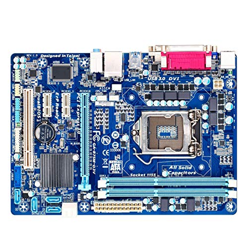 TOPOU Plato Principal Placa Base GA-B75M-D3V Motopular de Escritorio B75 Socket LGA 1155 i3 i5 i7 DDR3 32G Micro ATX Original B75M-D3V