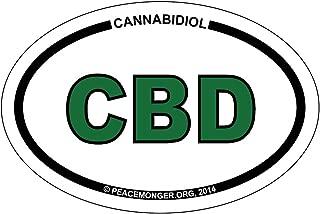 Peacemonger CBD Cannabidiol Medical Marijuana Cannabis Oval ID Bumper Sticker