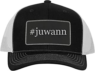 One Legging it Around #juwann - Leather Hashtag Black Patch Engraved Trucker Hat