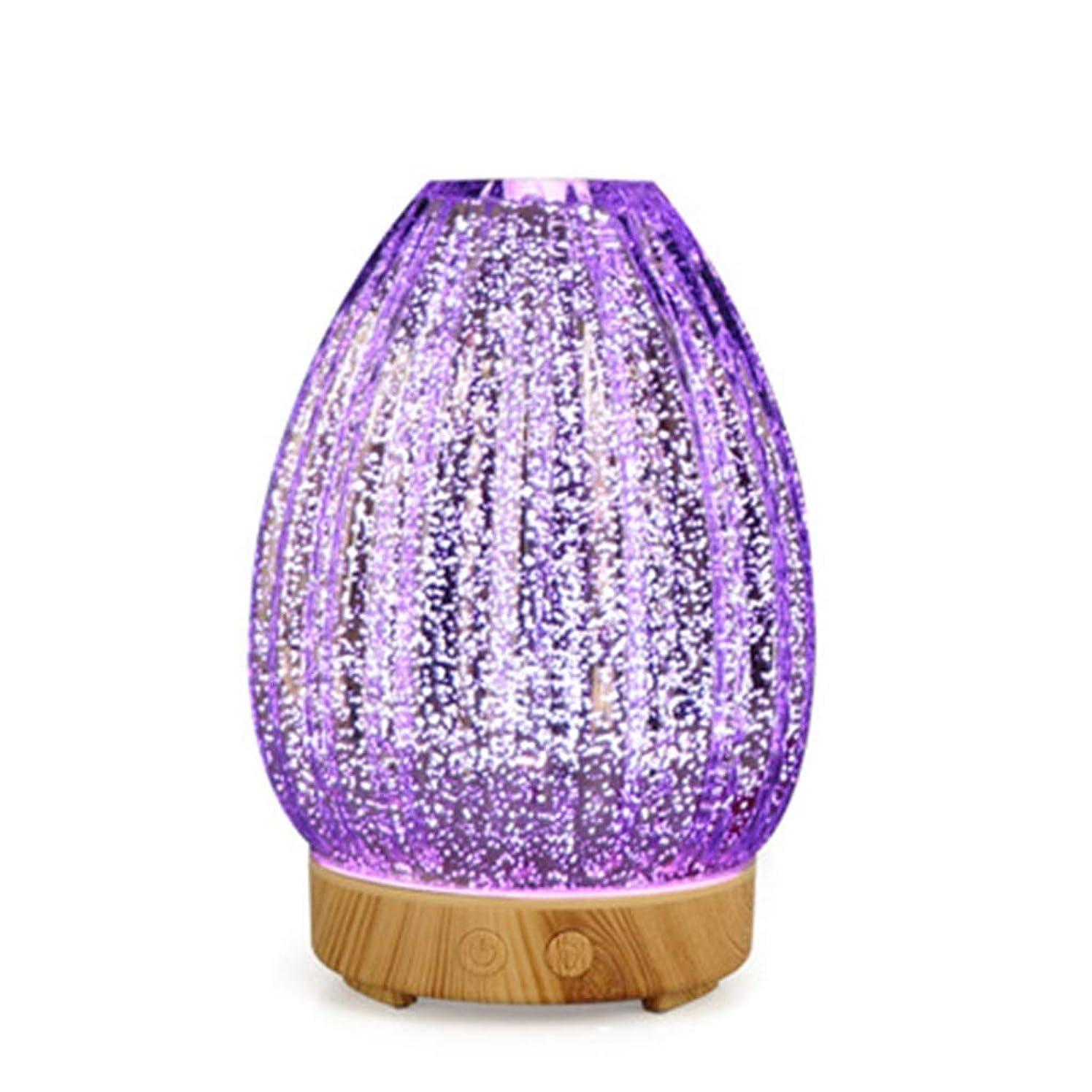 巻き取り水没意志クールミスト空気加湿器、ウォーターフリーオートクローズ、7 LEDカラー変更ライト付き、寝室のベビーレディの家の装飾に適して (Color : Light wood grain)