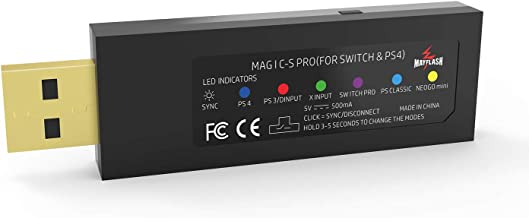 Magic-S Pro Wireless Controller Adapter for Nintendo Switch, PS4,PS3, PC, NEOGEO Mini, PS Classic, NEOGEO Arcade Stick PRO