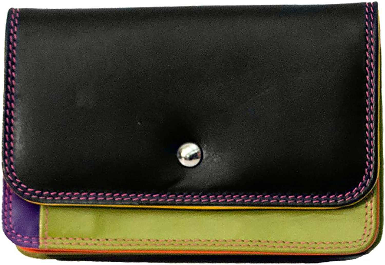 ILI 7871 Black Bright Leather Mini Wallet