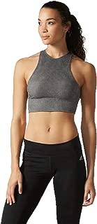 adidas Women's Training Wanderflow Warp Knit Crop Top (Washed Black, Small)