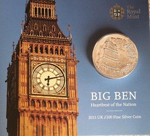 big ben 2015 uk 100 fine silver coin