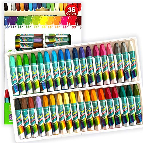 Non Toxic Oil Pastels,36 Assorted Colors Art Crayon Oil Paint Sticks Soft Pastels Set for Kids Indoor Activities, Artists & Beginners,Students Painting Drawing Graffiti Art Supplies (36 Colors)