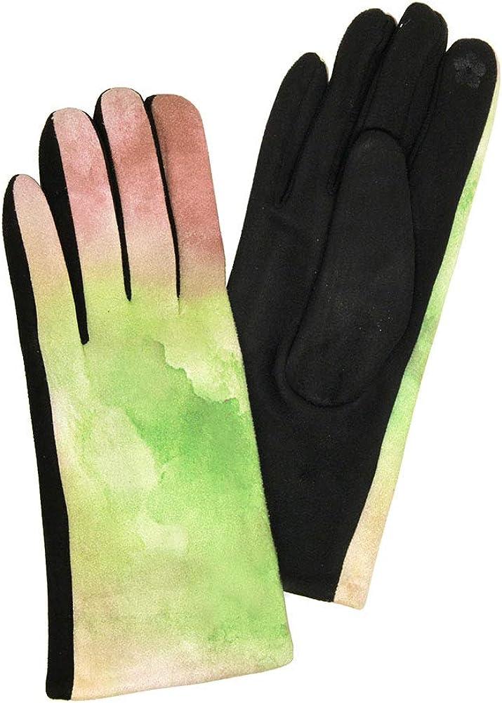 ScarvesMe Women's Tie Dye Watercolor Winter Warm Smart Touch Gloves