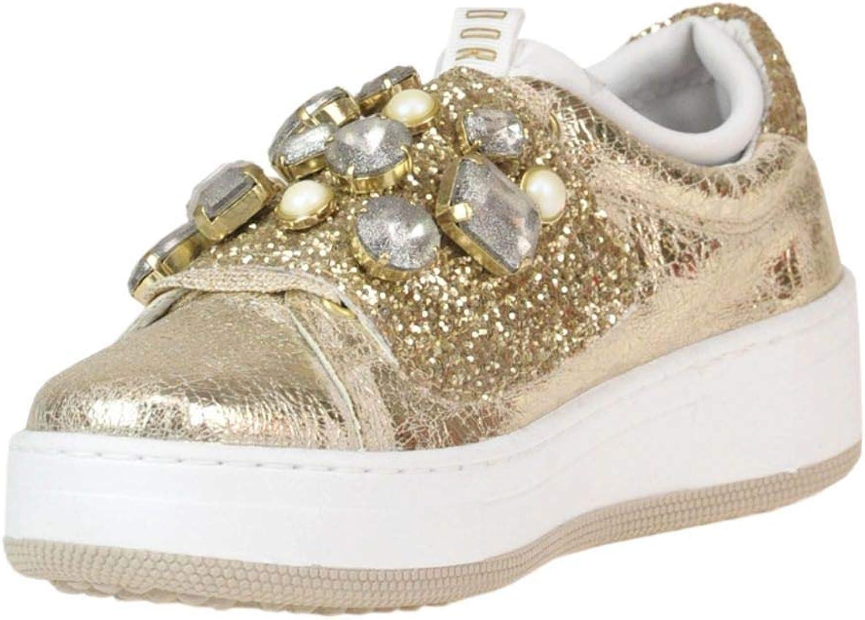 DOR Women's MCGLCAK000005029E gold Leather Sneakers