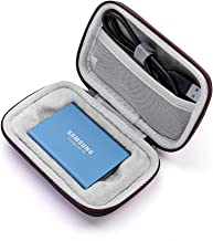 Esimen Hard Case for Samsung T5/T3/T1 Portable SSD 250GB 500GB 1TB 2TB Accessories Carry Bag Protective Storage Box