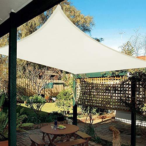 HAIKUS Tenda a Vela Impermeabile Rettangolare 3x5 m, Vela Ombreggiante 5x3 Impermeabile, Tenda da Sole per Esterno, Giardino Terrazzo, Bianca Crema