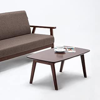 Krei Hejmo Solid Wood Coffee Tea Sofa Side Table (102-Rectangular, Dark Brown)