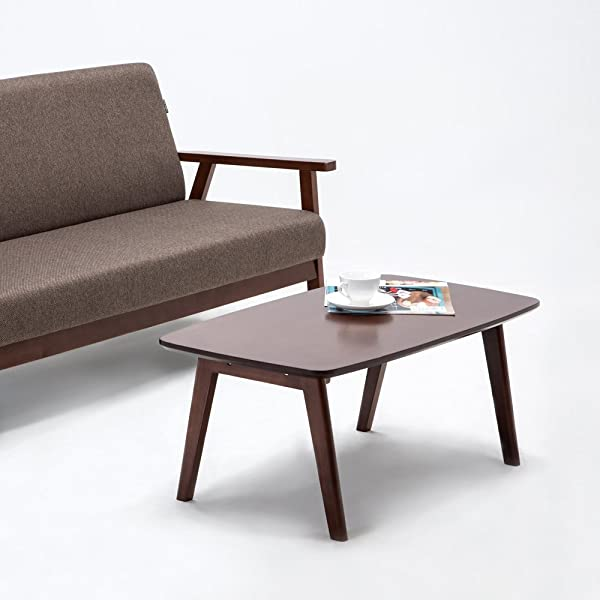 Krei Hejmo 实木咖啡茶沙发边桌 102 长方形深棕色