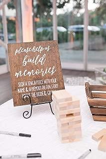 ShoppeCo Jenga Guest Book Rustic Wedding Wedding Help Us Build Memories Wedding Guest Book Wood Pallet Design Wall Art Sign Plaque Wooden Signs