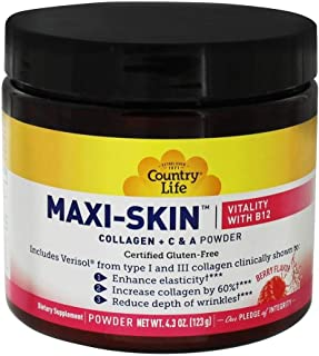 Country Life Maxi-Skin Vitality With B12 Powder, 123 gm