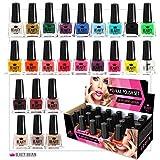 Set de 24 Esmalte de uñas 24 colores diferentes...