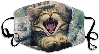 Monicago Mascarilla bucal unisex única, mascarilla facial, Cute Cat Good Morning Polyester Anti-