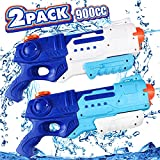 Water Guns for Kids, 2 Pack Squirt Guns Super Water Soaker Blaster Guns 900 CC Large Capacity 30 ft Long Range Shoot, Swimming Pool Outdoor Water Fighting Play Toys for Adults, Boys Girls Kids Gifts