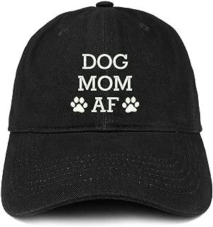 Trendy Apparel Shop Dog Mom AF Paw Embroidered Unstructured Cotton Dad Hat