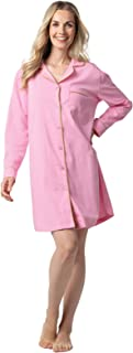 Addison Meadow Sleep Shirts for Women - Woven Cotton Flannel Sleep Shirt