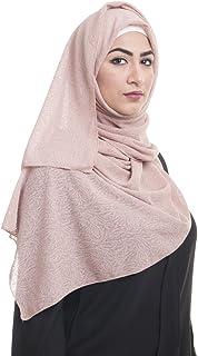 وشاح بسيط من قماش الجاكار للنساء من Kashkha العرض 55.88 سم × الطول 203.2 سم