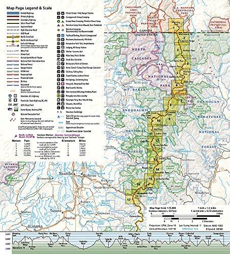 Pacific Crest Trail, Washington North: Topographic Map Guide (National Geographic Topographic Map Guide)