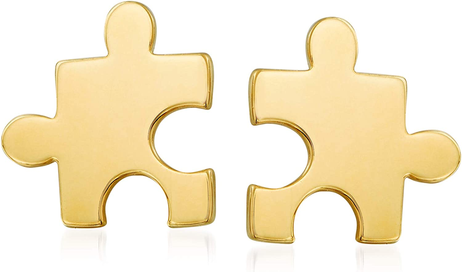 Ross-Simons 14kt Yellow Gold Puzzle Piece Stud Earrings