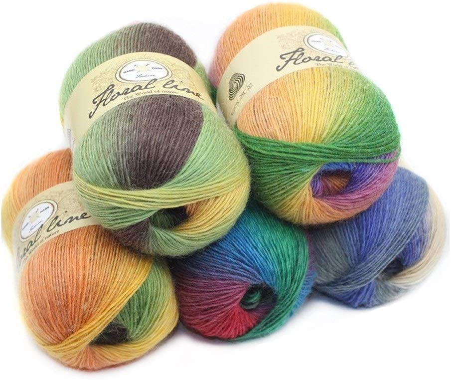 JXXXJS San Francisco Mall 5pcsX100g Cashmere New Orleans Mall Yarn Used Weaving Crocheted for