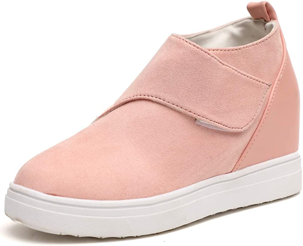 Vimisaoi Womens Platform Wedge Sneakers, Cutout Comfy Ankle Booties Casual Walking Shoes