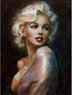 YOMIA DIY Marilyn Monroe Cross Stitch Patterns Diamond Painting Full Drill Paint by Numbers, 5D Painting Arts Craft Embroidery Painting Pictures