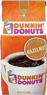 Dunkin' Donuts Hazelnut Flavored Ground Coffee,12 Ounce